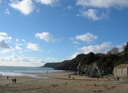 Beach on the Gower Pen. Wales