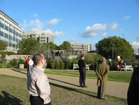 People at Tower Hill watch Concorde's last flight