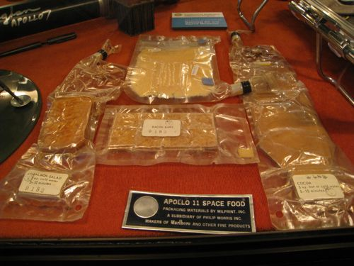 Apollo 11 unused food